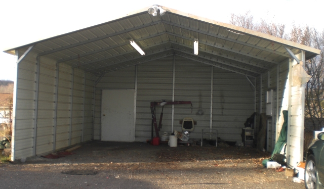 Metal carport garage door david batty: the garage